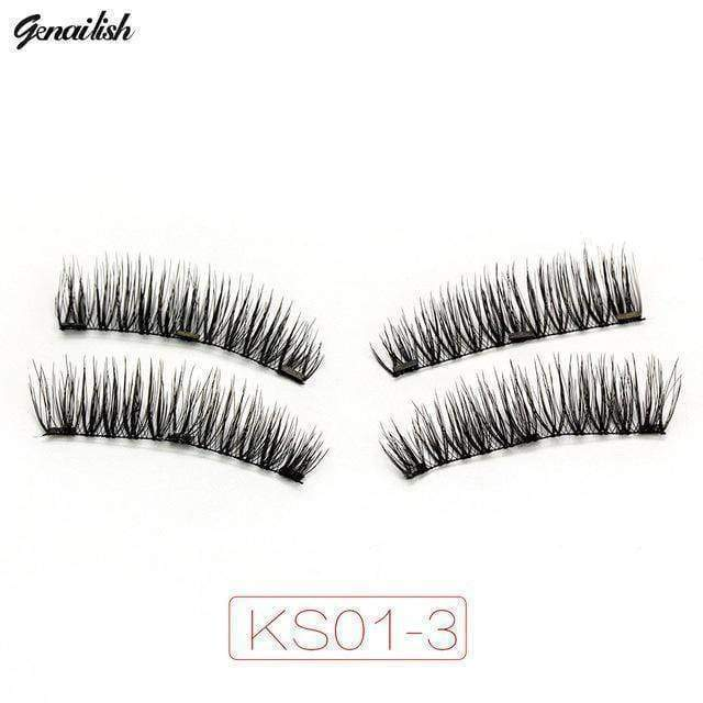 beauty KS01-3 3x fuller Magnetic eyelashes with 3 magnets