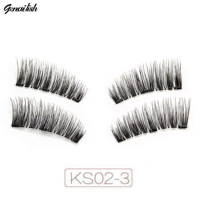 beauty KS02-3 3x fuller Magnetic eyelashes with 3 magnets