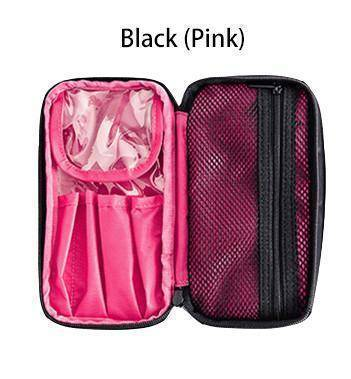 beauty Pink Double Layer Portable travel cosmetic beauty Bag