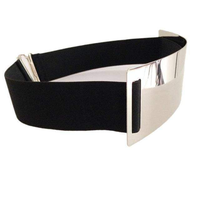 Belts silver / M 63cm to 80cm Hot Designer Belts for Woman Gold Silver Brand Belt Classy Elastic ceinture femme 5 color belt ladies Apparel Accessory