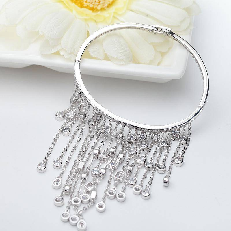 bracelets Luxury Tassel bangle silver bracelet bangle