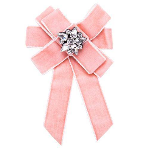 Fabric Brooch with Crystal Design A
