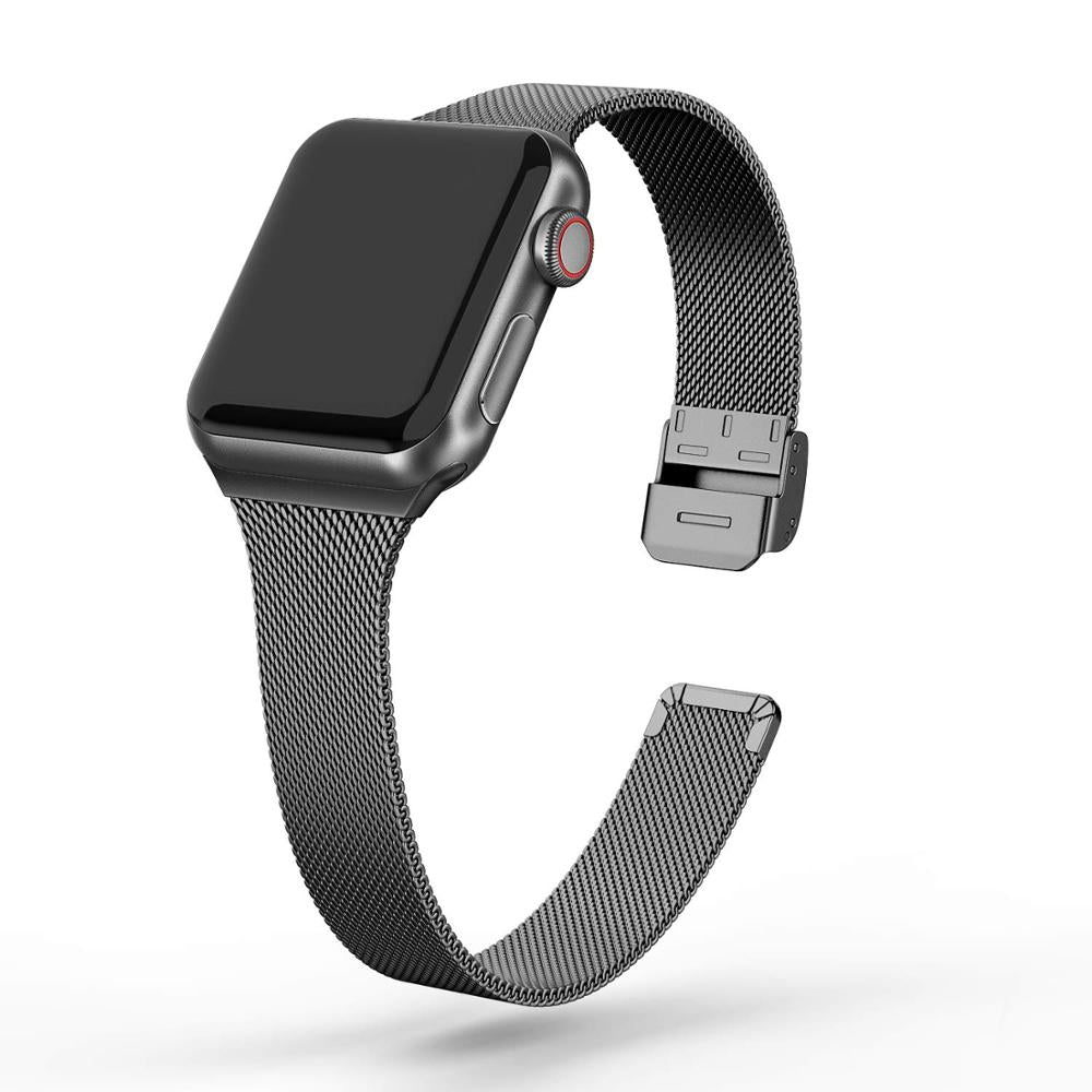 Milanese Strap For Apple Watch Band Series 6 5 4 Slim Metal Bracelet iWatch 38mm 40mm 42mm 44mm Luxury Wristband |Watchbands|