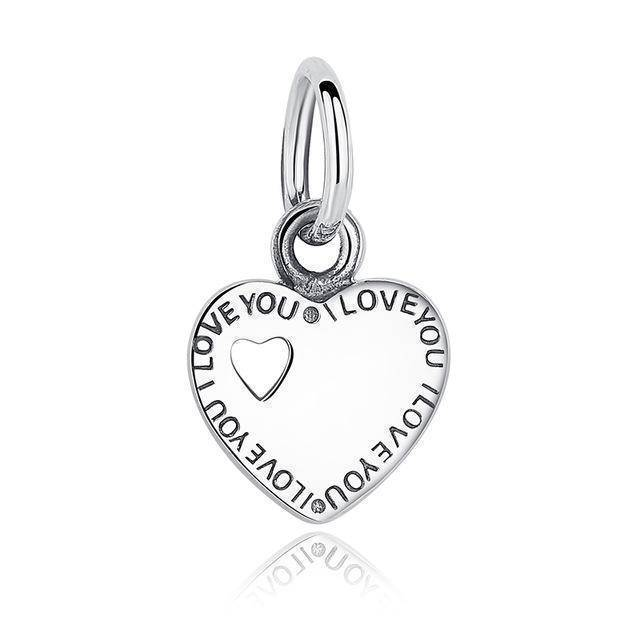charms & beads GOS135 23 Styles, 925 Sterling Silver. Love Heart Charms