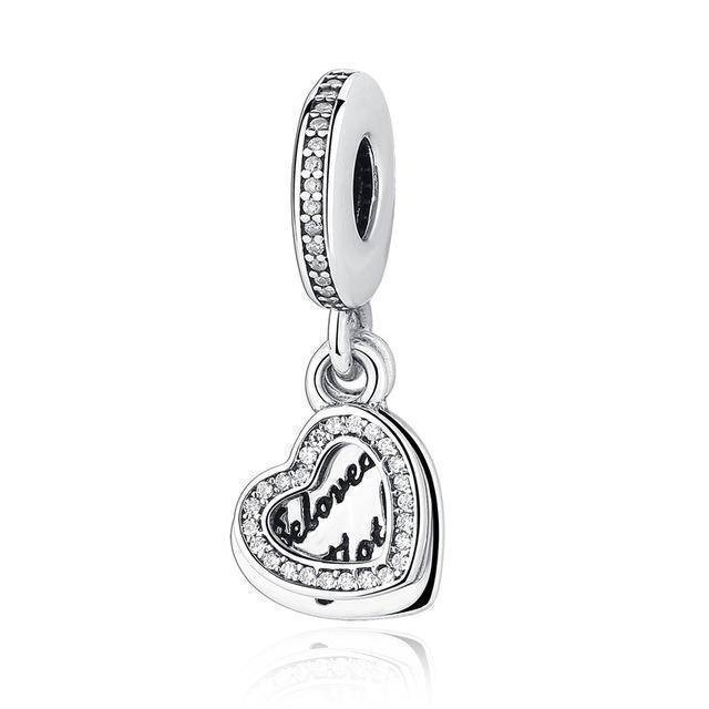 charms & beads GOS301 23 Styles, 925 Sterling Silver. Love Heart Charms