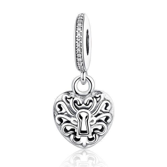 charms & beads GOS347 23 Styles, 925 Sterling Silver. Love Heart Charms