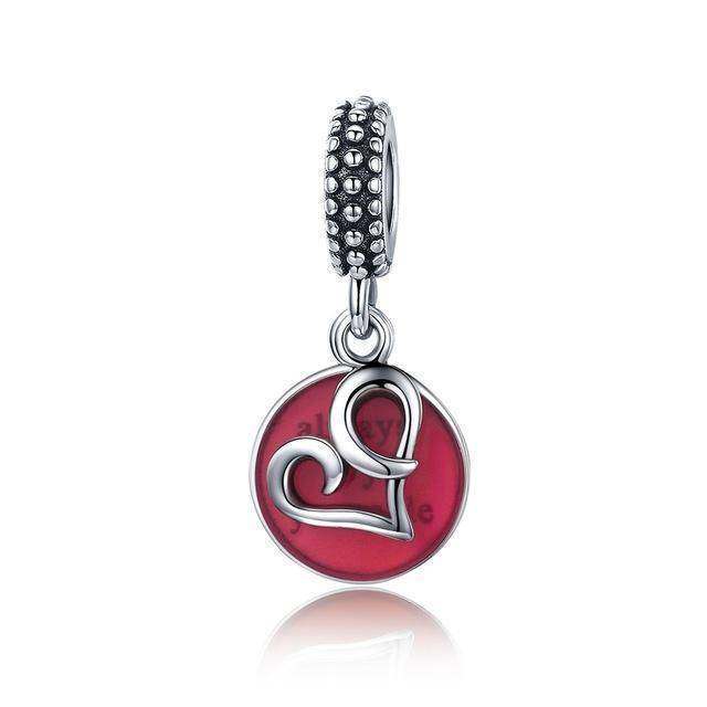 charms & beads GXC147 23 Styles, 925 Sterling Silver. Love Heart Charms