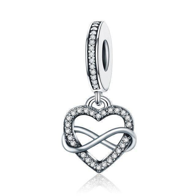 charms & beads GXC261 23 Styles, 925 Sterling Silver. Love Heart Charms