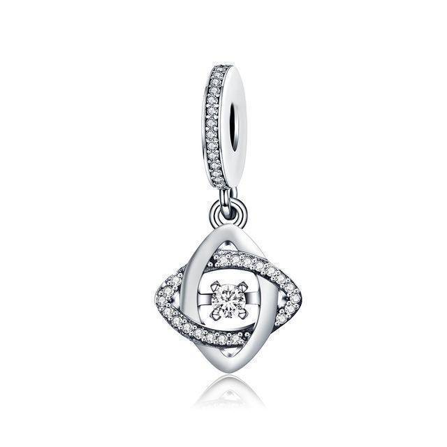 charms & beads GXC274 23 Styles, 925 Sterling Silver. Love Heart Charms