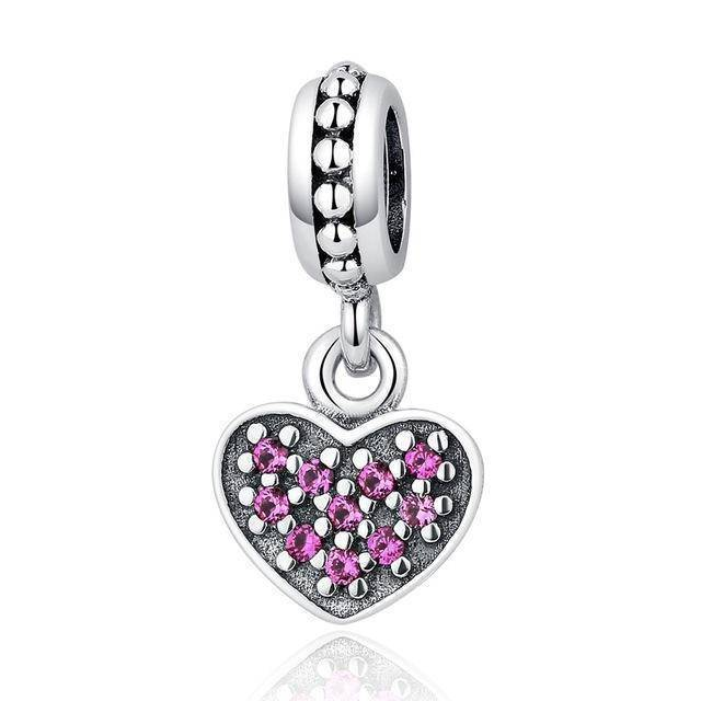 charms & beads GYC005 23 Styles, 925 Sterling Silver. Love Heart Charms
