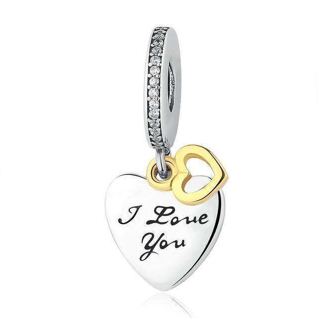 charms & beads GYC070 23 Styles, 925 Sterling Silver. Love Heart Charms