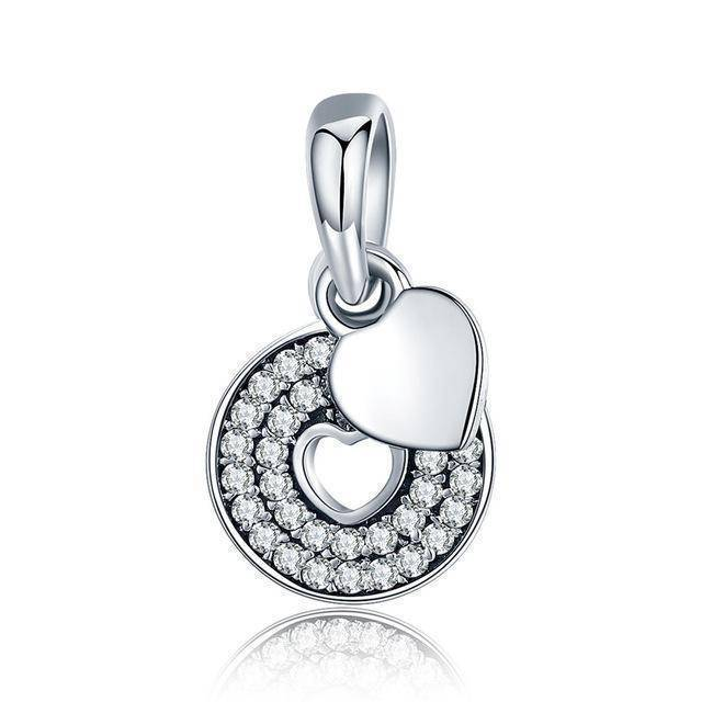 charms & beads GYC157 23 Styles, 925 Sterling Silver. Love Heart Charms