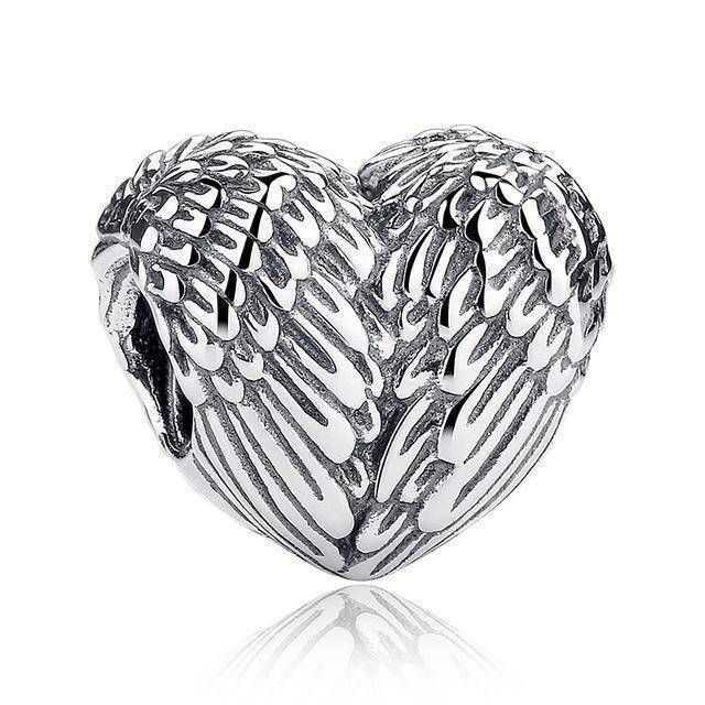 charms & beads S033 27 Styles of Hearts - 100% Authentic 925 Sterling Silver Charm Beads,  Fits Pan Charm Bracelets