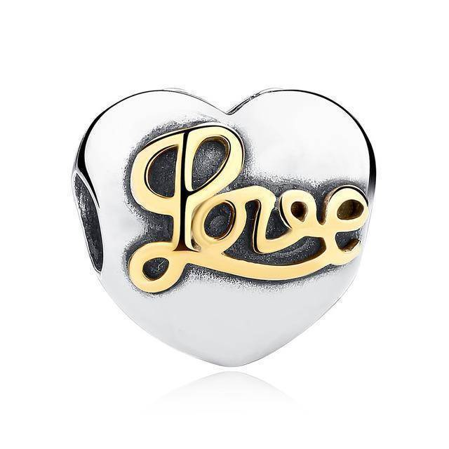 charms & beads S242 27 Styles of Hearts - 100% Authentic 925 Sterling Silver Charm Beads,  Fits Pan Charm Bracelets
