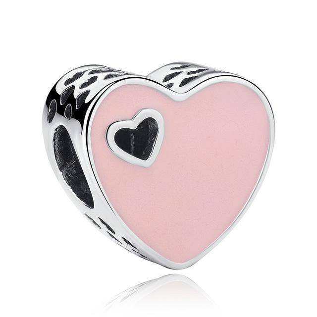 charms & beads S269 27 Styles of Hearts - 100% Authentic 925 Sterling Silver Charm Beads,  Fits Pan Charm Bracelets