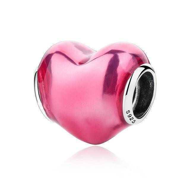 charms & beads S270 27 Styles of Hearts - 100% Authentic 925 Sterling Silver Charm Beads,  Fits Pan Charm Bracelets
