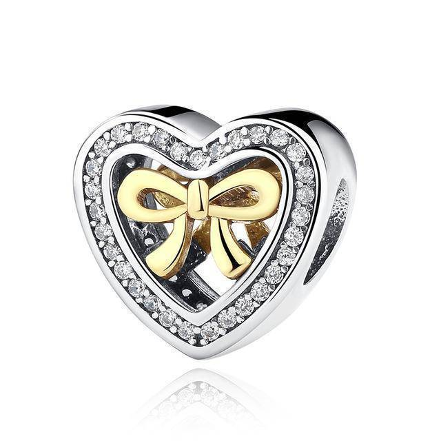charms & beads S300 27 Styles of Hearts - 100% Authentic 925 Sterling Silver Charm Beads,  Fits Pan Charm Bracelets