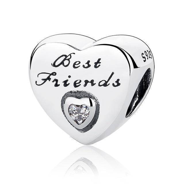 charms & beads S324 27 Styles of Hearts - 100% Authentic 925 Sterling Silver Charm Beads,  Fits Pan Charm Bracelets