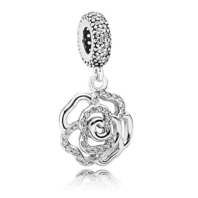 charms & beads XCHS086 24 Designs, 925 Sterling Silver Pendant Charm Dangle Beads