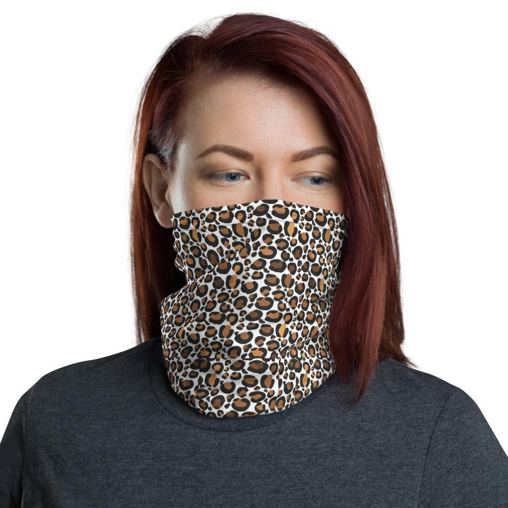 Cheetah Neck Gaiter Face Shield Leopard Animal Mask Headband Print Athletic Running Safari Scarf Bandana Sports Cycling Birthday Biking
