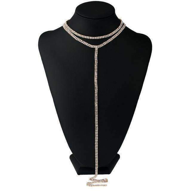 choker A10 10 Designs, Rhinestone choker Statement Necklaces