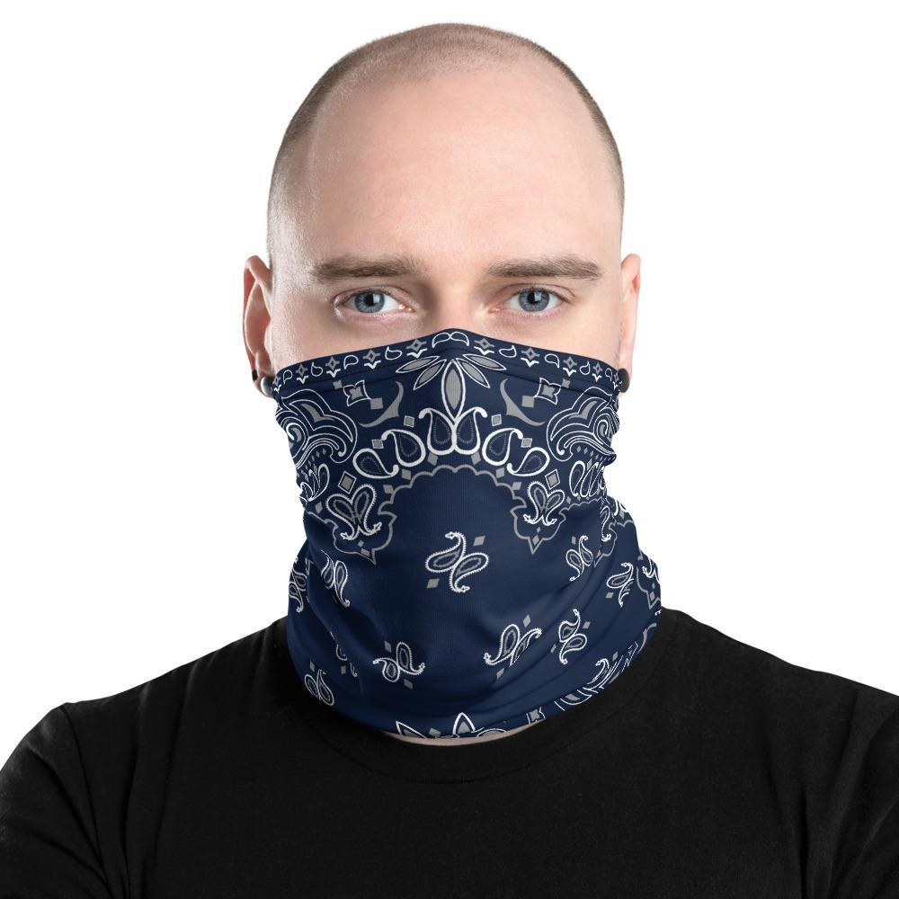 Classic Retro paisley biker face cover, Washable Reusable Mask, black white print neck gaiter unisex men women girls scarf, Shield for him