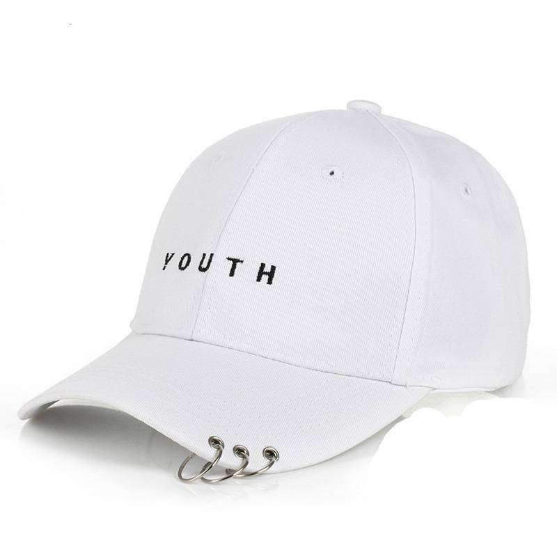 clothing 8 Styles, Unisex Embroidery Cap with Silver hoops