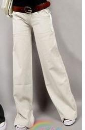 "Clothing beige / S (US 29) Elastic waist women  Linen pants, wide leg pants casual pants top straight pants loose trousers ( Up to 31"" waist)"