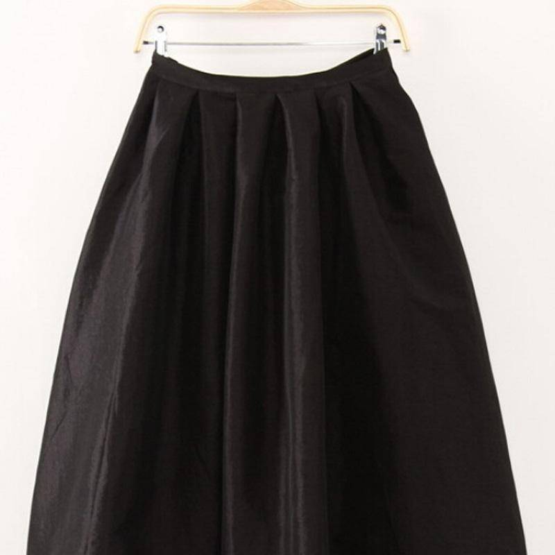 Clothing Black / S (US 4-6) Maxi Long Skirt Floor Length Ladies High Waisted Skirts  (US 4-20W)