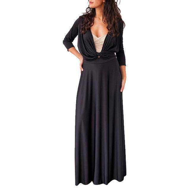 clothing Black / US 2 - 4 The Wonder Dress - Long Sleeve Design, Multi way, infinity convertible dreses,  Petite Sizes (US 2- 10)