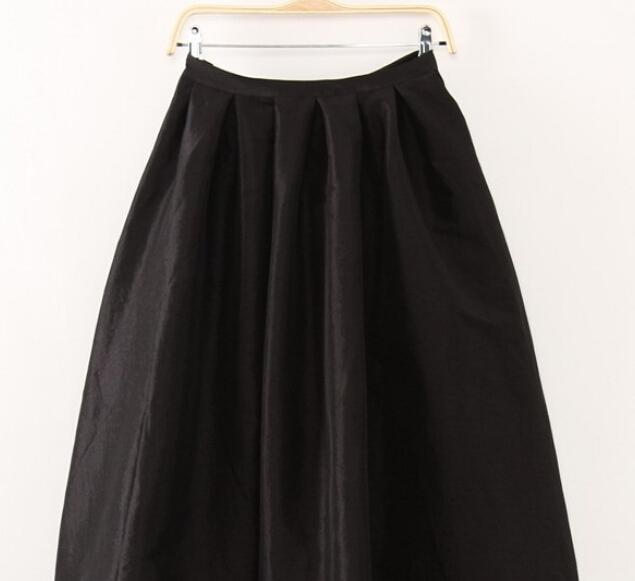 Clothing Black / XL (US 12-14) Maxi Long Skirt Floor Length Ladies High Waisted Skirts  (US 4-20W)