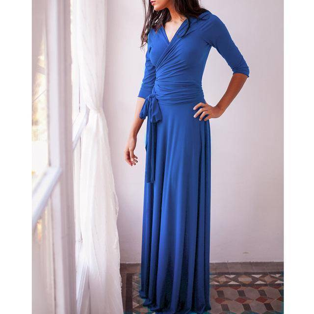 clothing Blue / US 2 - 4 The Wonder Dress - Long Sleeve Design, Multi way, infinity convertible dreses,  Petite Sizes (US 2- 10)
