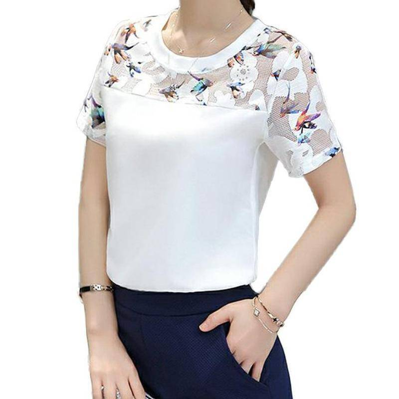 Clothing Butterfly white shirts plus size  (US 4-14)