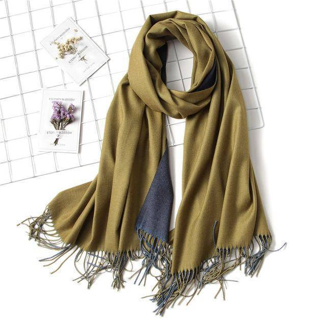 clothing c10 18 Colors, Double-side soft Cashmere scarves, shawls and wraps with Tassel
