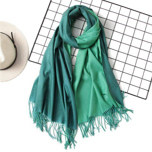 clothing c11 18 Colors, Double-side soft Cashmere scarves, shawls and wraps with Tassel