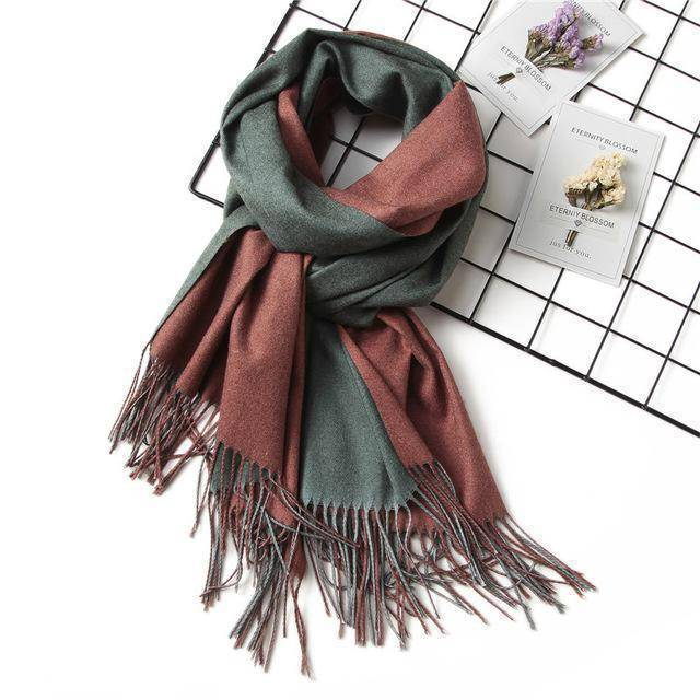 clothing c12 18 Colors, Double-side soft Cashmere scarves, shawls and wraps with Tassel