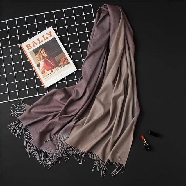 clothing c14 18 Colors, Double-side soft Cashmere scarves, shawls and wraps with Tassel