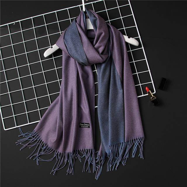 clothing c15 18 Colors, Double-side soft Cashmere scarves, shawls and wraps with Tassel