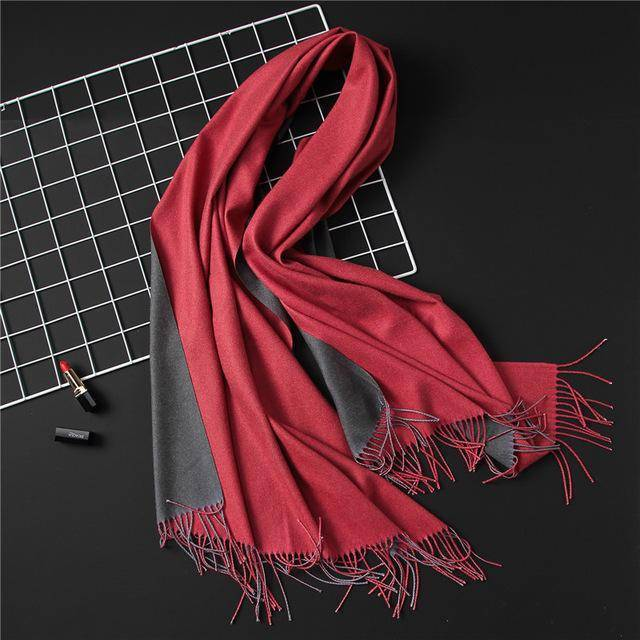 clothing c16 18 Colors, Double-side soft Cashmere scarves, shawls and wraps with Tassel