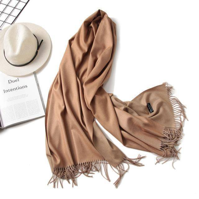 clothing c2 18 Colors, Double-side soft Cashmere scarves, shawls and wraps with Tassel