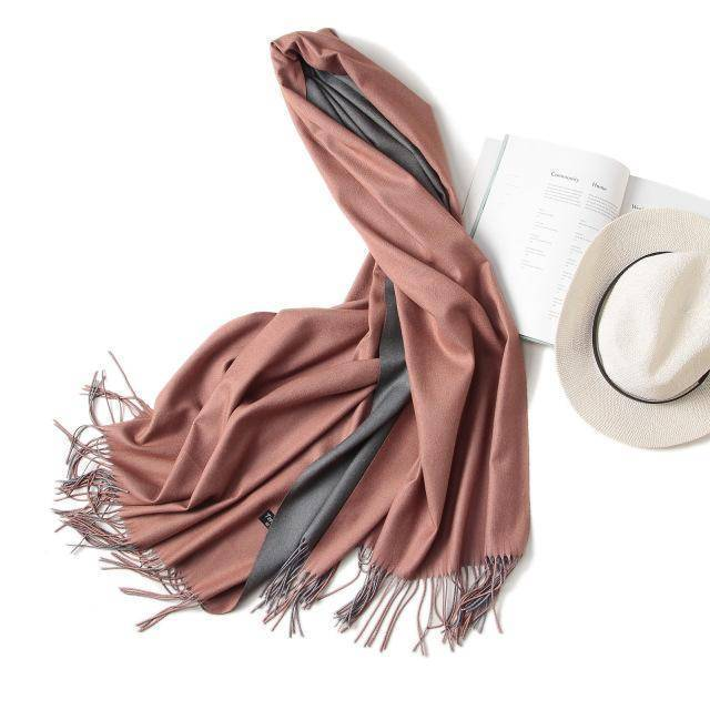 clothing c3 18 Colors, Double-side soft Cashmere scarves, shawls and wraps with Tassel