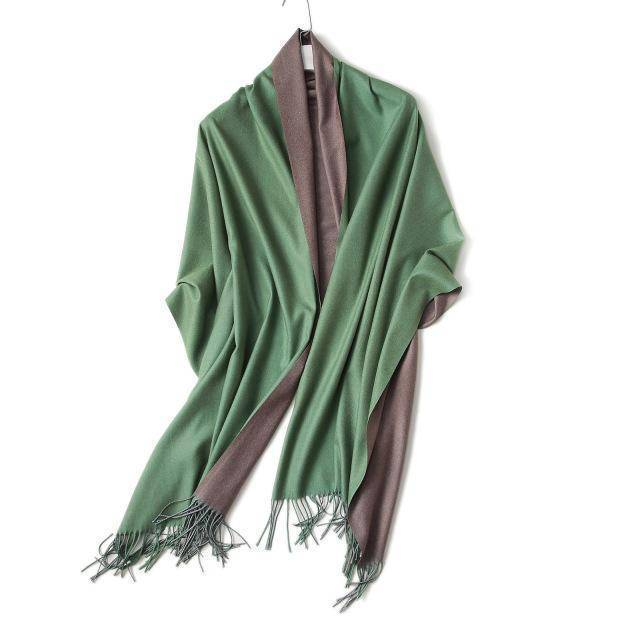 clothing c4 18 Colors, Double-side soft Cashmere scarves, shawls and wraps with Tassel