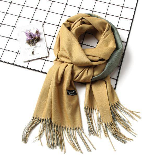 clothing c5 18 Colors, Double-side soft Cashmere scarves, shawls and wraps with Tassel