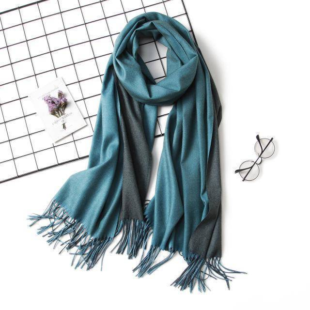 clothing c6 18 Colors, Double-side soft Cashmere scarves, shawls and wraps with Tassel