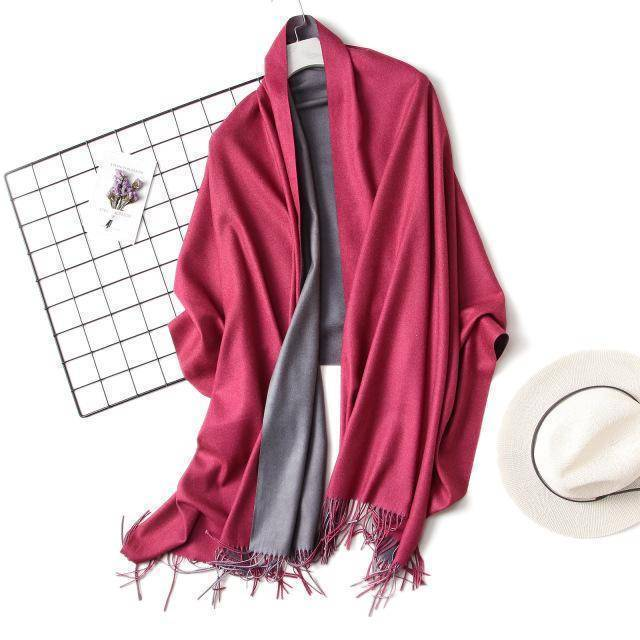 clothing c7 18 Colors, Double-side soft Cashmere scarves, shawls and wraps with Tassel