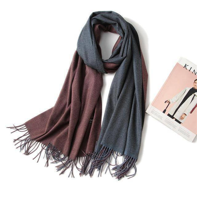 clothing c8 18 Colors, Double-side soft Cashmere scarves, shawls and wraps with Tassel