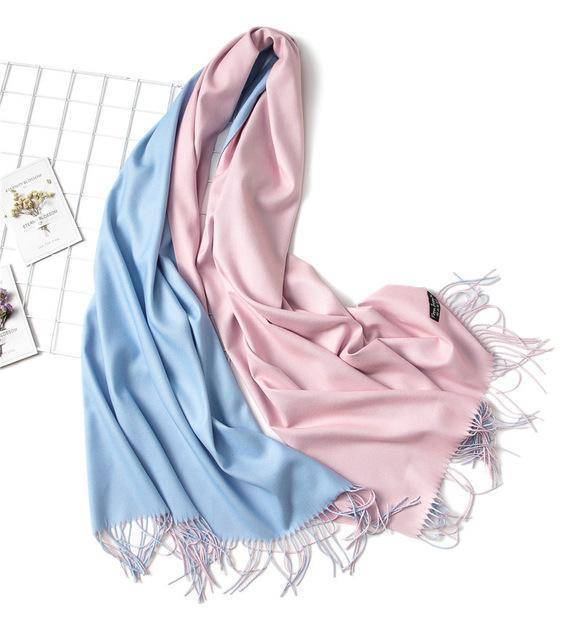 clothing c9 18 Colors, Double-side soft Cashmere scarves, shawls and wraps with Tassel