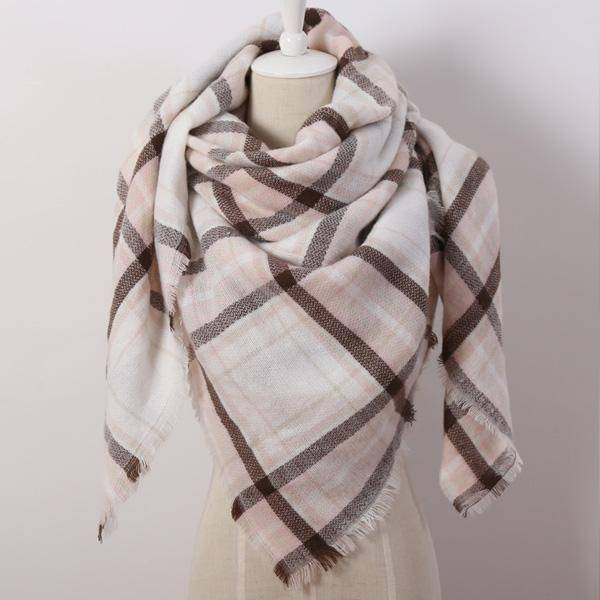 clothing coffee Oversize Solid Color Winter Square Scarf, XL Women Blankets,  Luxury Shawl 140cm x 140cm