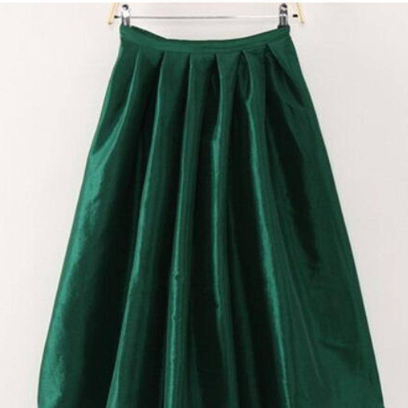 Clothing Dark green / S (US 4-6) Maxi Long Skirt Floor Length Ladies High Waisted Skirts  (US 4-20W)
