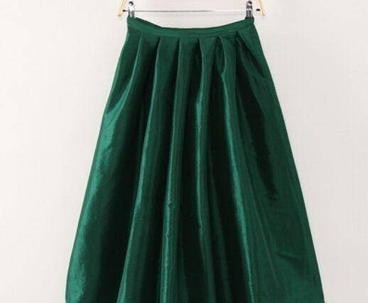 Clothing Dark green / XXL (US 14-16) Maxi Long Skirt Floor Length Ladies High Waisted Skirts  (US 4-20W)